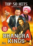 BHANGRA KINGS - TOP 50 HITS (4 CD SET)